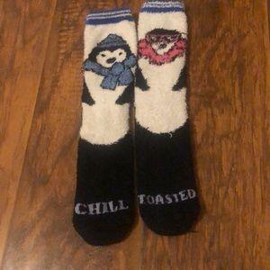 Penguin fuzzy socks from American eagle